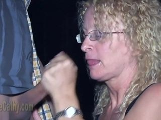 Gilf Cathy And Her Sexmate Wait For Gloryhole sausages