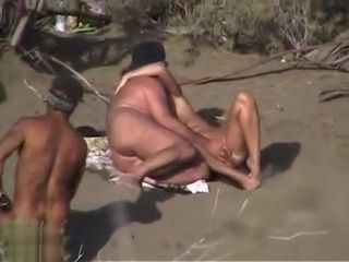 Mature inexperienced and his damsel are loving in outdoor fucky-fucky