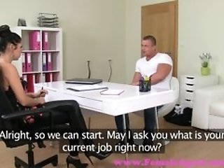 FemaleAgent. Ripped stud eager to fuck sexy MILF in her office