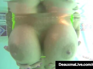 Hot soakChieflyg Milf Deauxma Swims basic & Rubs knockers fro PornStar come together