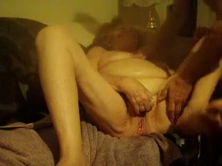 Watch me jacking off on horny German granny