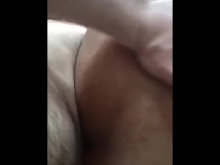 Anal invasion penetration poke with a bootie cork in