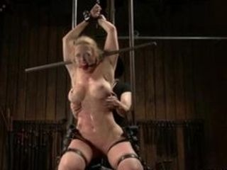 Domme Claire Adams suspended by chains huge inborn boobies cougar Dee Williams packaged in spandex then in other extraordinary tool restrain bondage p