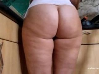 This truly drives me crazy. My step-mom likes to do housework up her nude arse. A monstrous chubby insane arse! And she just keeps jiggling that arse