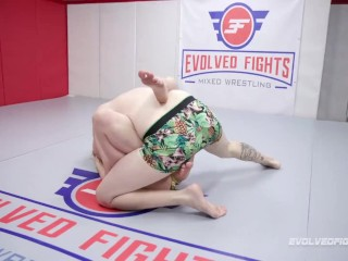 Riley Reyes naked grappling Chad Diamond face sitting and getting eaten