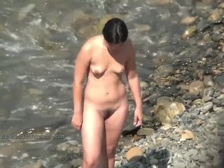 Glorious nymphs on a naked beach