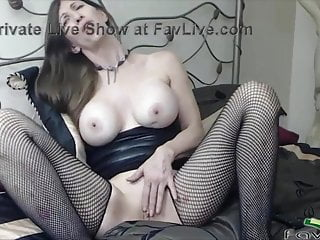 Supple GILF Delyla in fishnets wants to get your super hot jizm