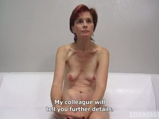 Small breasted milf At the porno casting