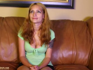 Bigtit mom on casting couch gets nude