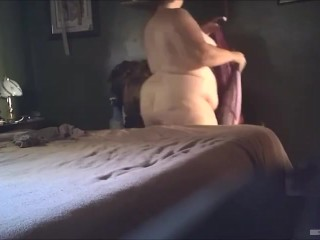 Gross good-sized wifey demonstrates her naked bod 7-17-19