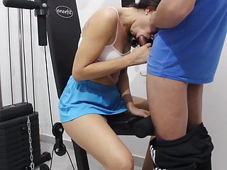 Oral job of a ultra-kinky Argentinian. Jism in mouth