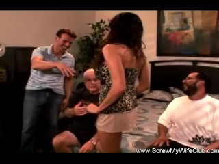 Very very first Time Swinger wifey penetrated By The poking squad