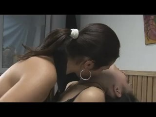 Hottt brown-haired all doll neck tonguing and smooching fetish