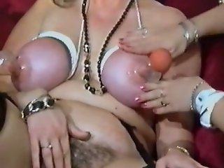 Raunchy slut gets her face glazed in jizz while playing with her pussy