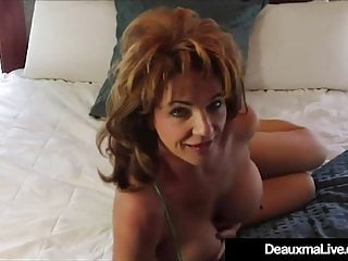 Prex down in the mouth progenitrix Deauxma Dildo Bangs their way Pussy & Cums!