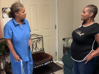 Angie gives lady a stiff slapping for late night partying