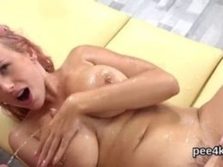Flirty euro nubile blows dick to urinating salami before getting her poon gaped and peed extraordinary inwards