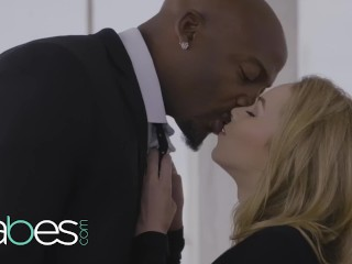 Honies - little spinner light-haired Angel Smalls gets stretched by big black cock