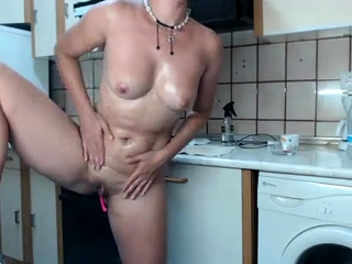 Inexperienced cougar cougar with smallish mammories is tugging pink cigar
