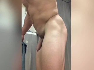 Snooping on jock with epic bootie and uncircumcised beefstick in public locker guest bedroom