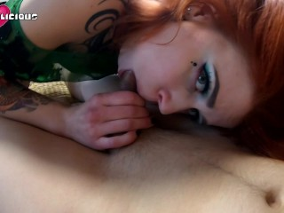 Red-haired call nymph tramp gives head and culo with enjoyment