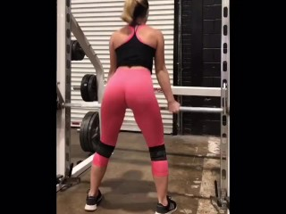Flawless donk Instagram towheaded beauty Works Out