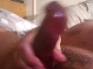 Toying with my vibrating 7 inch man meat dildo in my culo smash fuck hole while I stroke