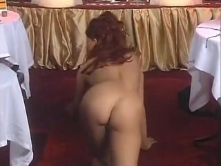 Antique stripper with flawless baps gets bare