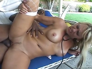 Mature mom with big boobs screwed bad in hardcore interracial porn video