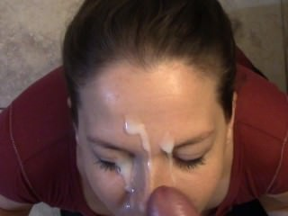 Thick cum facial for Azzurra