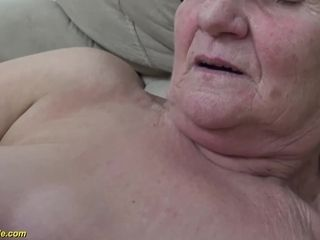 Gross 86 years older grannie needs a youthful pipe