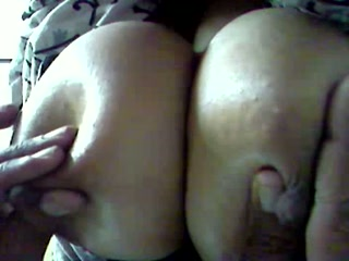 My well-endowed wifey lets me play with her huge nipples