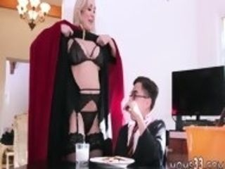 Messy platinum-blonde penetrated and boink bus Halloween off the hook With A threeway