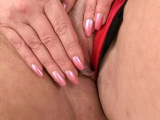Ultra-kinky Czech milf with phat natural milk cans Solo