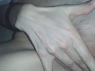 That's what my ejaculation longing wifey does when she wants to attract my attention