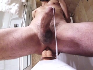Handsfree ruined prostate ejaculation with my new toy