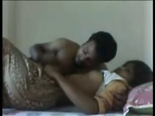 Cuddling with my hot Indian housewife and undressing her