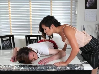 Entitled milky office breezy gets her's starring japanese domina Lucy Khan