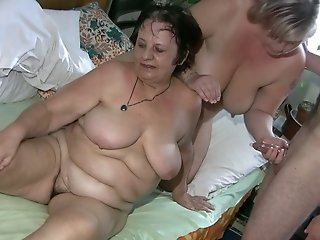 Horny dude bangs mature meaty cunt of old bitch Gisela and chubby gal