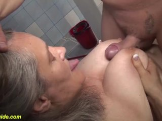 'busty 83 years elderly mother orb fucked'
