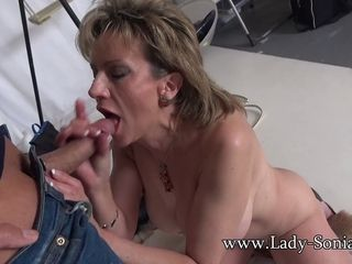 Camera operator jaws pounds Mature nymph Sonia