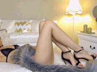Steamy cam female with awesome feet and High high-heeled slippers Part 1