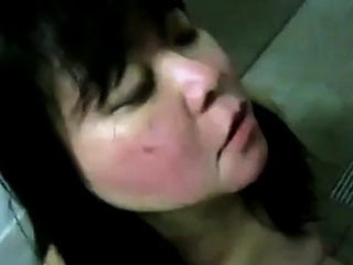 Amateur chinese Mature doll gets facial cumshot money-shot