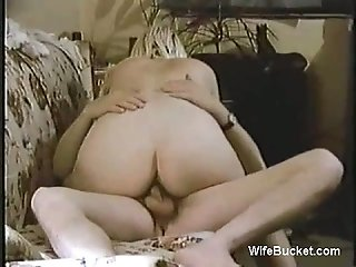 Awesome vintage amateur sex video with hot blonde wife