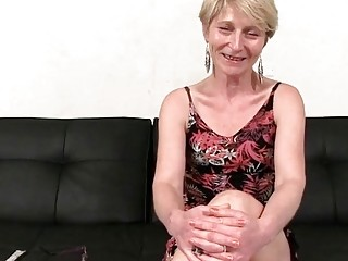 Wild short haired grannie gang bang-out flick