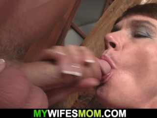 'Raunchy Motherinlaw taunts And Plays With His yam-sized Cock'