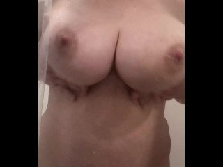 Demonstrating You My ginormous boobs in the shower