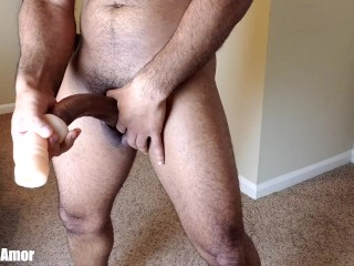 Big black cock experiences assfucking Stroke On Realistic bunghole
