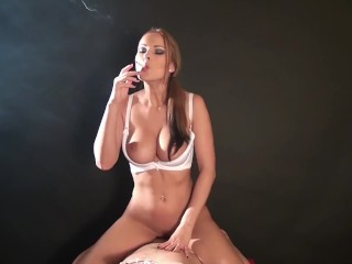 The oh so wonderful Abbie Cat smoking and ravaging! Whoa!