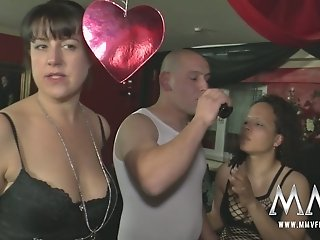 Drunk freaks enjoy hard orgy sex with wanton whores after party